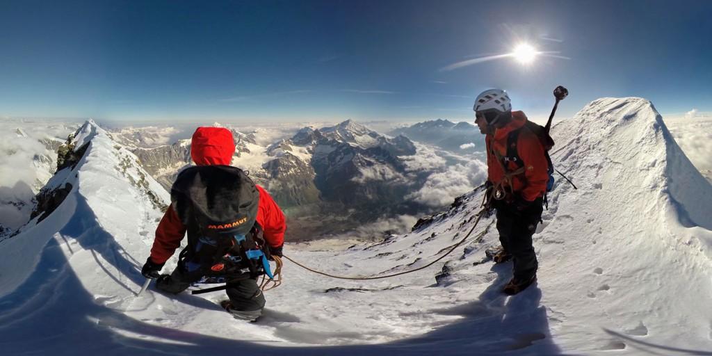 Stephan Siegrist und David Fasel. Mammut Pro Athlet Team. Matterhorn.