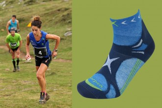 Lorpen-T3-Trailrunning-Socken-in-hellblau