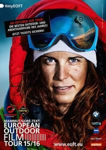 Tamara Lunger auf dem diesjährigen E.O.F.T. Poster
