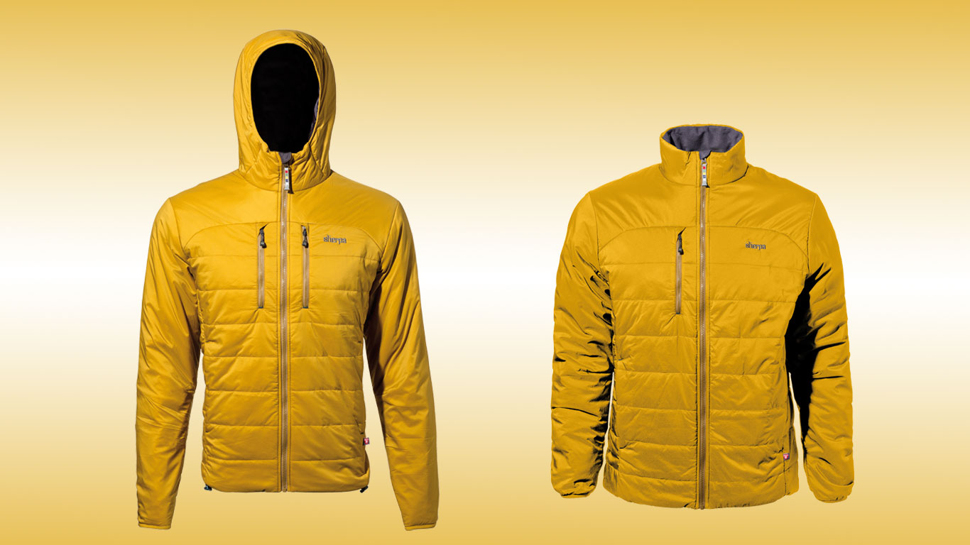 ISPO 2016 Highlight Das Kailash Jacket mit PrimaLoft Gold Füllung von Sherpa Adventure Gear.